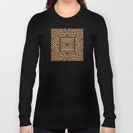 African Geometric Tribal Pattern 2 Long Sleeve T-shirt