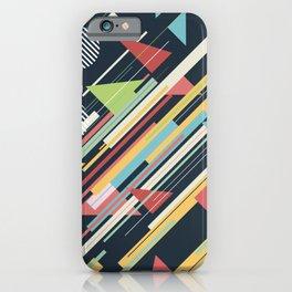 Retro Geometry iPhone Case