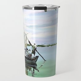 94 - Kerala boat crossing Travel Mug