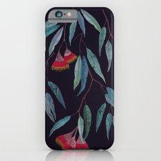 Eucalyptus leaves and flowers on dark violet iPhone 6 Slim Case
