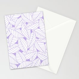 Leaves in Lavender Stationery Cards