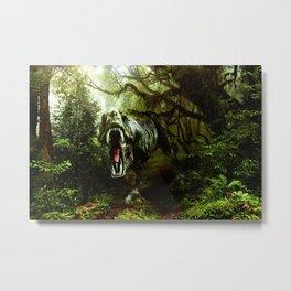 Jurassic Park Vintage Metal Print