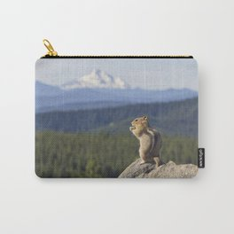 Chipmunk Facing Tom Dick and Harry Mountain Carry-All Pouch