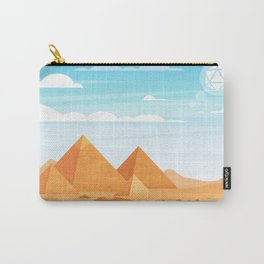 Egypt Pyraminds and Camels Desert D20 Dice Sun Tabletop RPG Landscape Carry-All Pouch