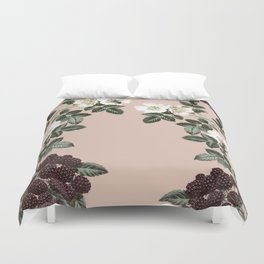 Bee Blackberry Bramble Coral Pink Duvet Cover