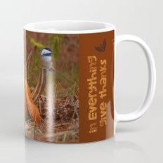 A Chickadee Thanksgiving Mug
