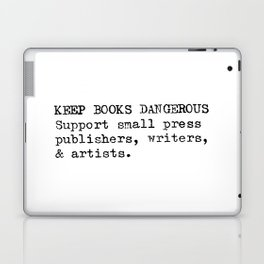 Keep Books Dangerous Laptop & iPad Skin