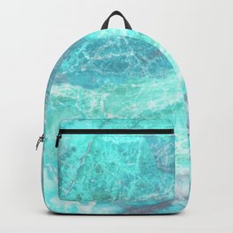 Marble Turquoise Blue Agate Backpack