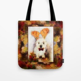 Merry Christmas Happy Holiday Westie Tote Bag