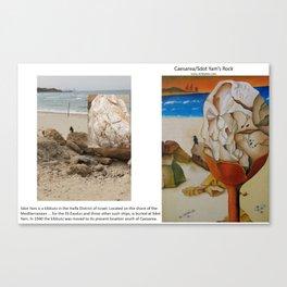 Caesarea Rock - Real vs Painting Canvas Print
