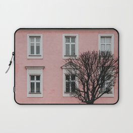 BARE TREE IN FRONT OF PINK BUILDING Laptop Sleeve