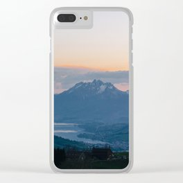 Lake View Clear iPhone Case