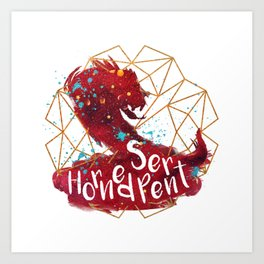 Horned Serpent Art Print