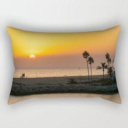 Classic Newport Sunset Rectangular Pillow
