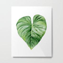 Tropical Leaf. Metal Print