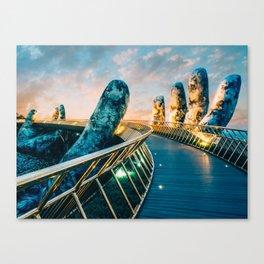 Golden Hands Bridge Vietnam Fine Art Print  • Travel Photography • Wall Art Canvas Print