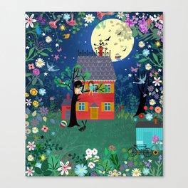 Emmas Full Moon Party Canvas Print