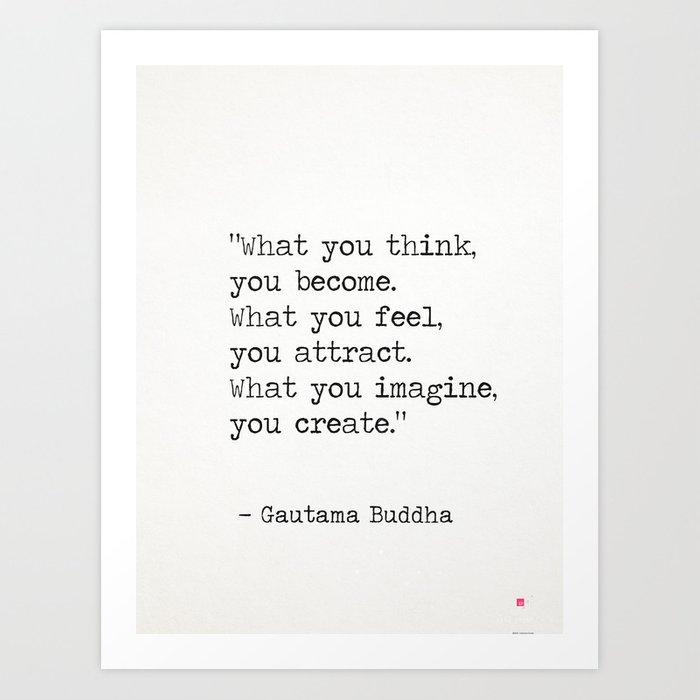 Buddha quote 5 Art Print