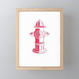 I'd Tap That Firefighter Framed Mini Art Print