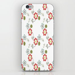 Ditsy Flower Chain iPhone Skin