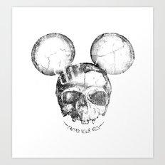 Mickey Skull Art Print