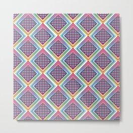 Gradient Rhombus Metal Print