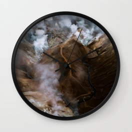 Kerlingarfjöll mountain range in Iceland - Aerial Landscape Photography Wall Clock