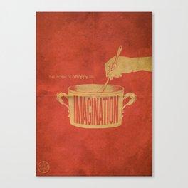 Imagination : The Recipe Of A Happy Life Canvas Print