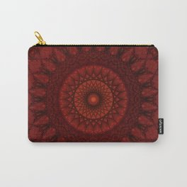 Dark and light red mandala Carry-All Pouch