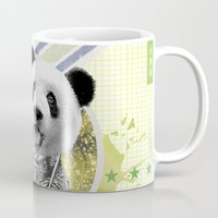 gladiator Mugs featuring Gladiator Panda by Ginger Pigg Art & Design
