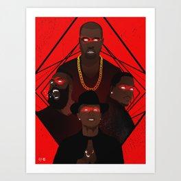 AdidasBoys - Ye, Pharrell, Harden, King Push Art Print