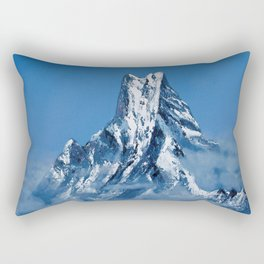 ANNAPURNA NEPAL - MOUNTAIN LANDSCAPE OIL PAINTING Rectangular Pillow
