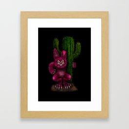 Desert Bunny Framed Art Print