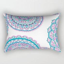 Blues and pink Rectangular Pillow