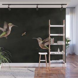 Hummingbirds and bee Wall Mural