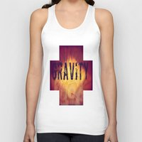 gravity Tank Tops featuring Gravity by Skye Rao