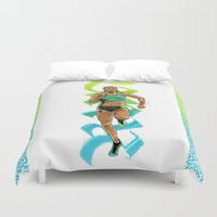 run Duvet Covers featuring Run by Akyanyme