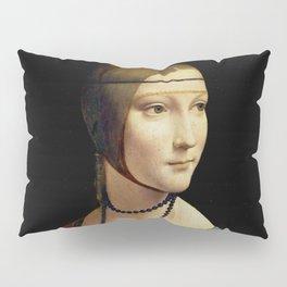 """Leonardo Da Vinci """"Portrait of Cecilia Gallerani (Lady with the Ermine)"""" Pillow Sham"""