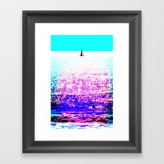Sailboat and Swimmer (2d) Framed Art Print