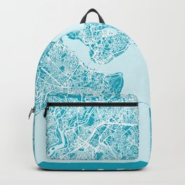 ISTANBUL City Map - Turkey   Aqua   More Colors, Review My Collections Backpack