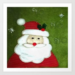Ho Ho Ho Father Christmas Art Print