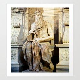 Michelangelo's Moses Art Print
