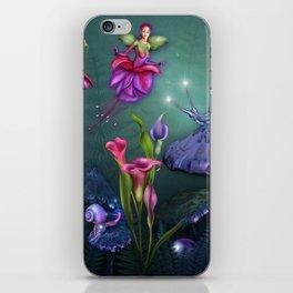 Beautiful Fuchsia Faerie Garden iPhone Skin