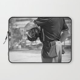 Umpire in Black and White Laptop Sleeve