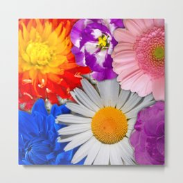 lovely Flower mix Metal Print