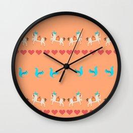 GENTLE  HORSE AND FELLOW BIRD Wall Clock