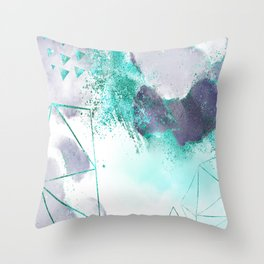 Azure mystique Throw Pillow