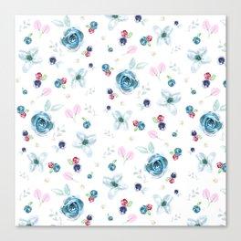 Emma Tossed Flowers Canvas Print