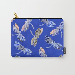 Dragonflies Blue Carry-All Pouch