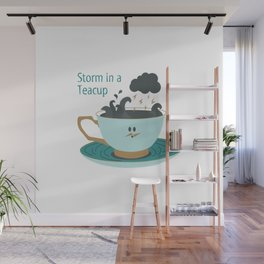 Storm in a Teacup Wall Mural